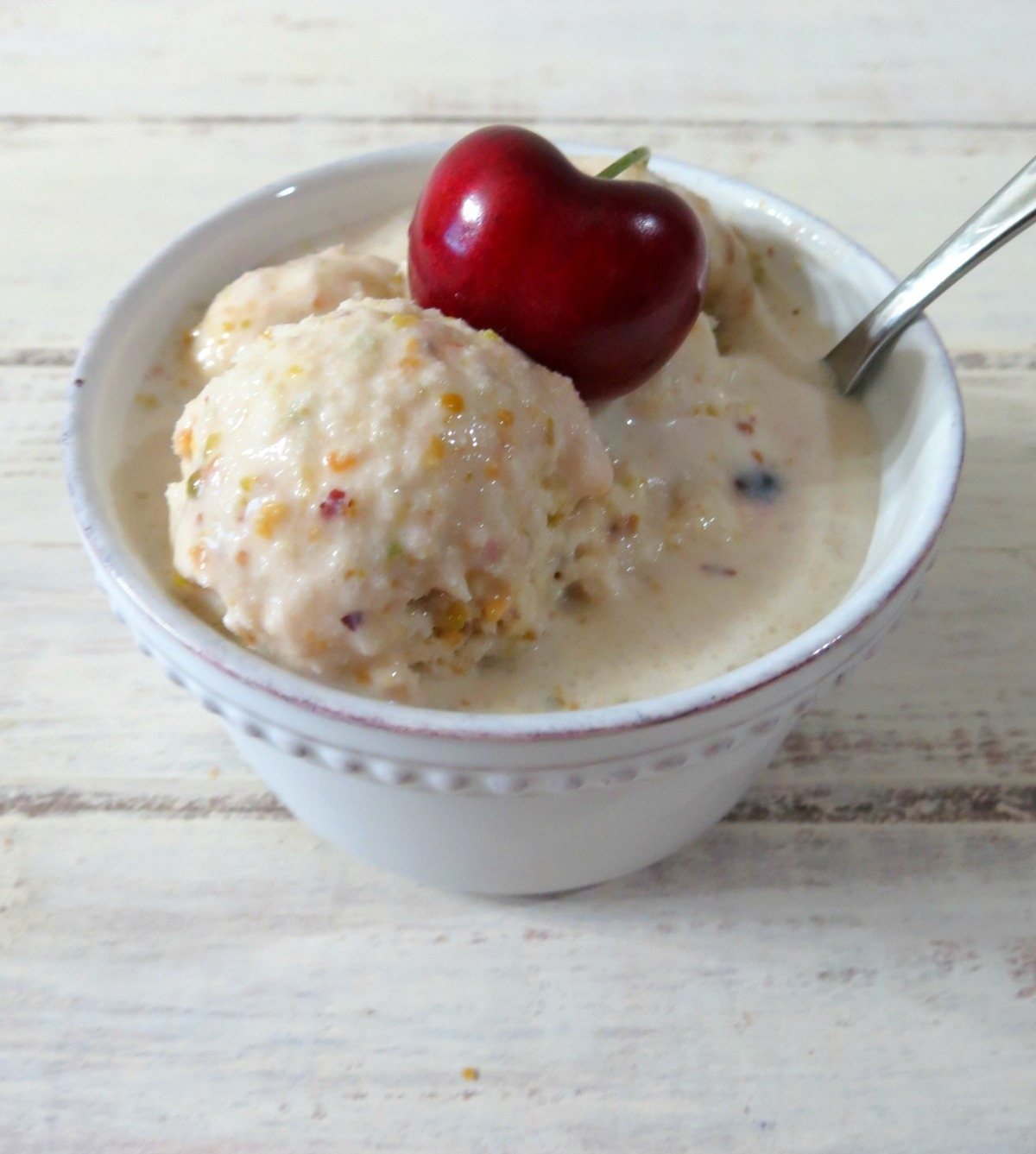 Pistachio Cherry Ice Cream