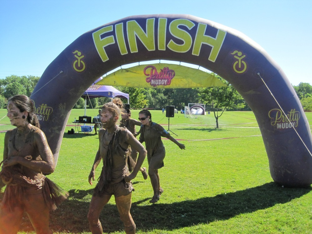Pretty Muddy Finish Line