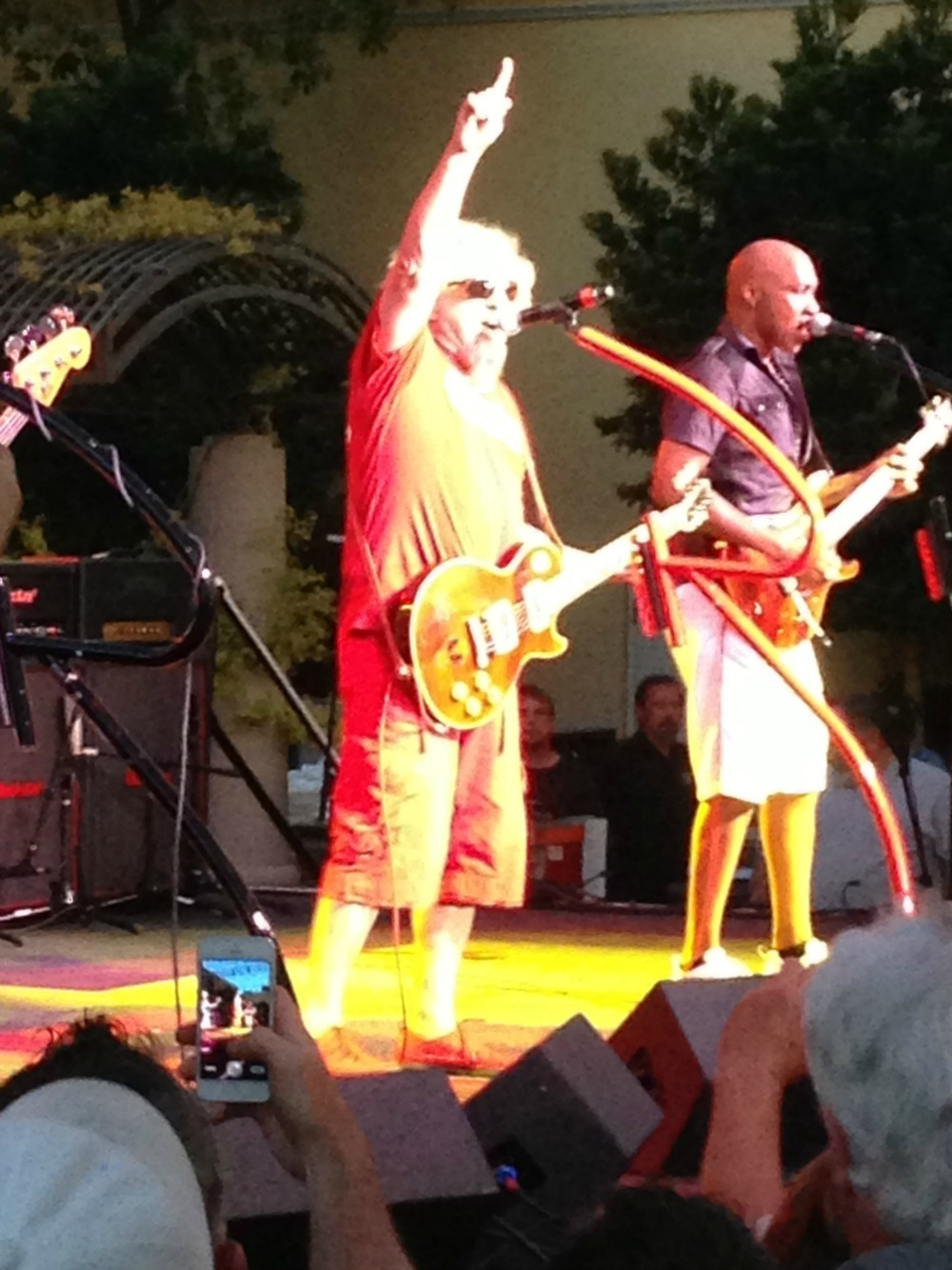 Sammy Hagar singing at the Veneitan Las Vegas