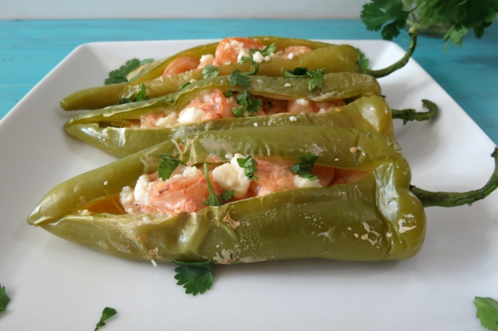 Shrimp Stuffed Anaheim Peppers