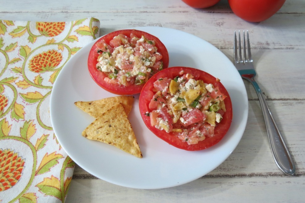 Feta Stuffed Tomato