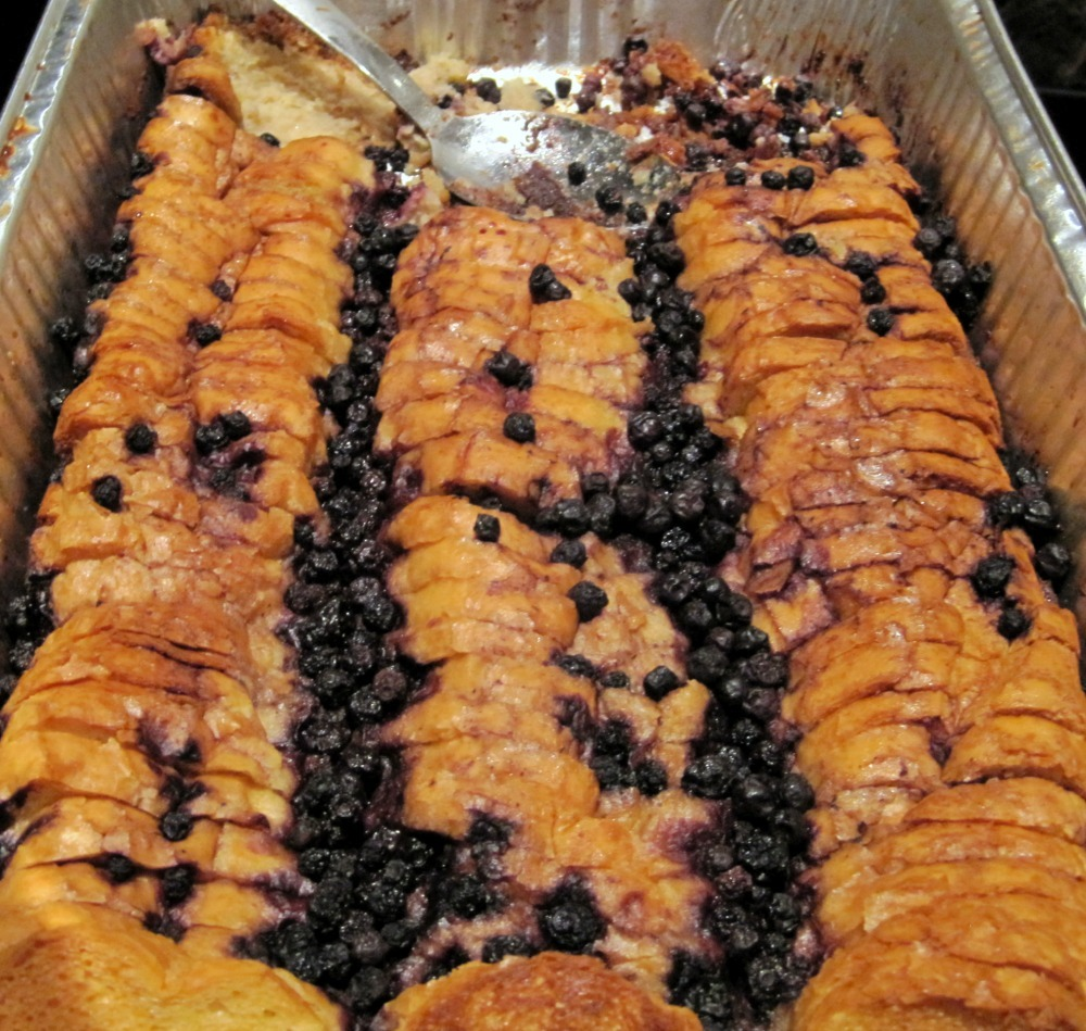 Blueberry Bread Pudding Batch