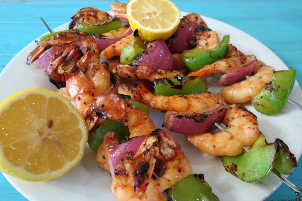 spicy, southern style grilled shrimp kabob served with thick spicy ...