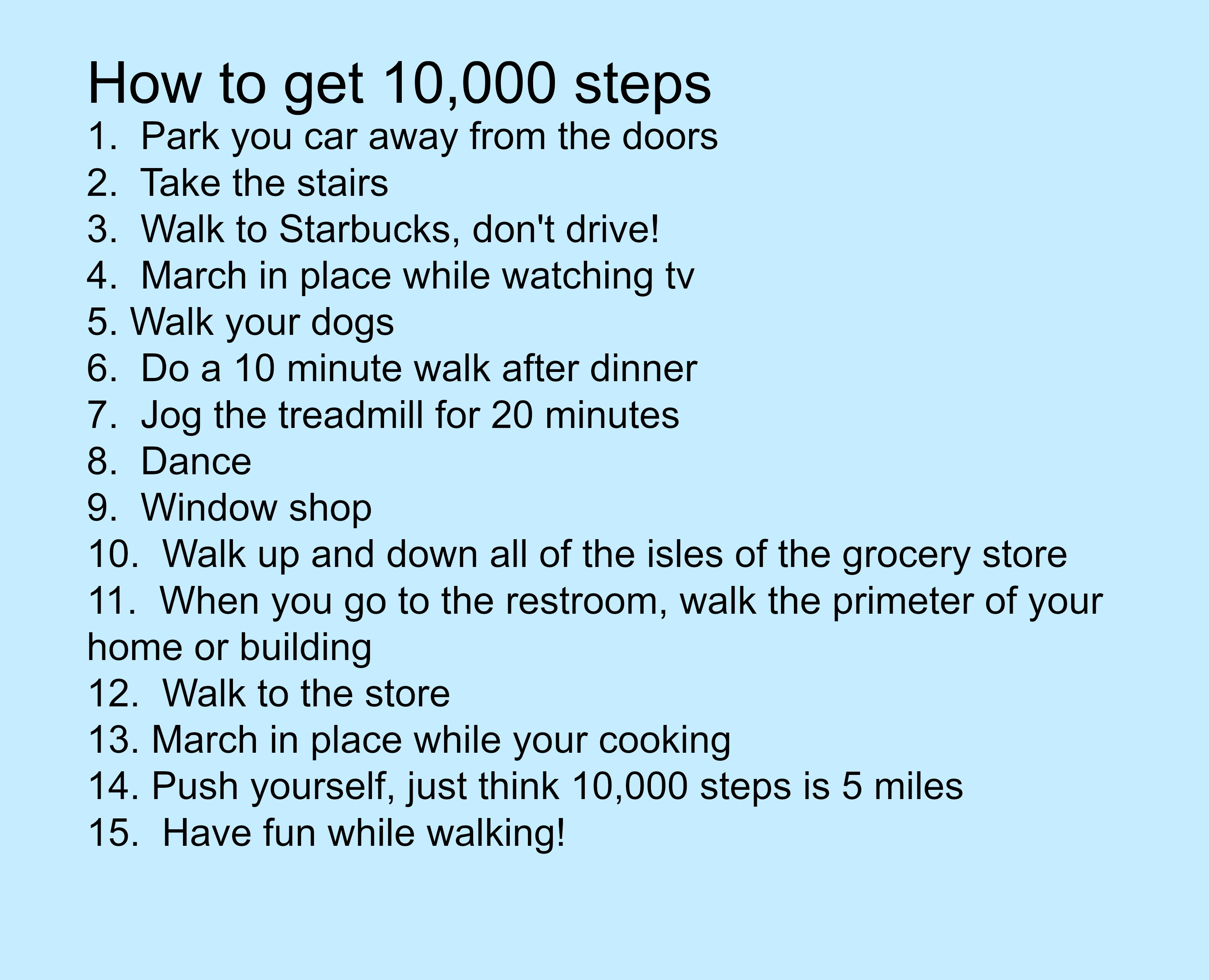How to get 10,000 steps