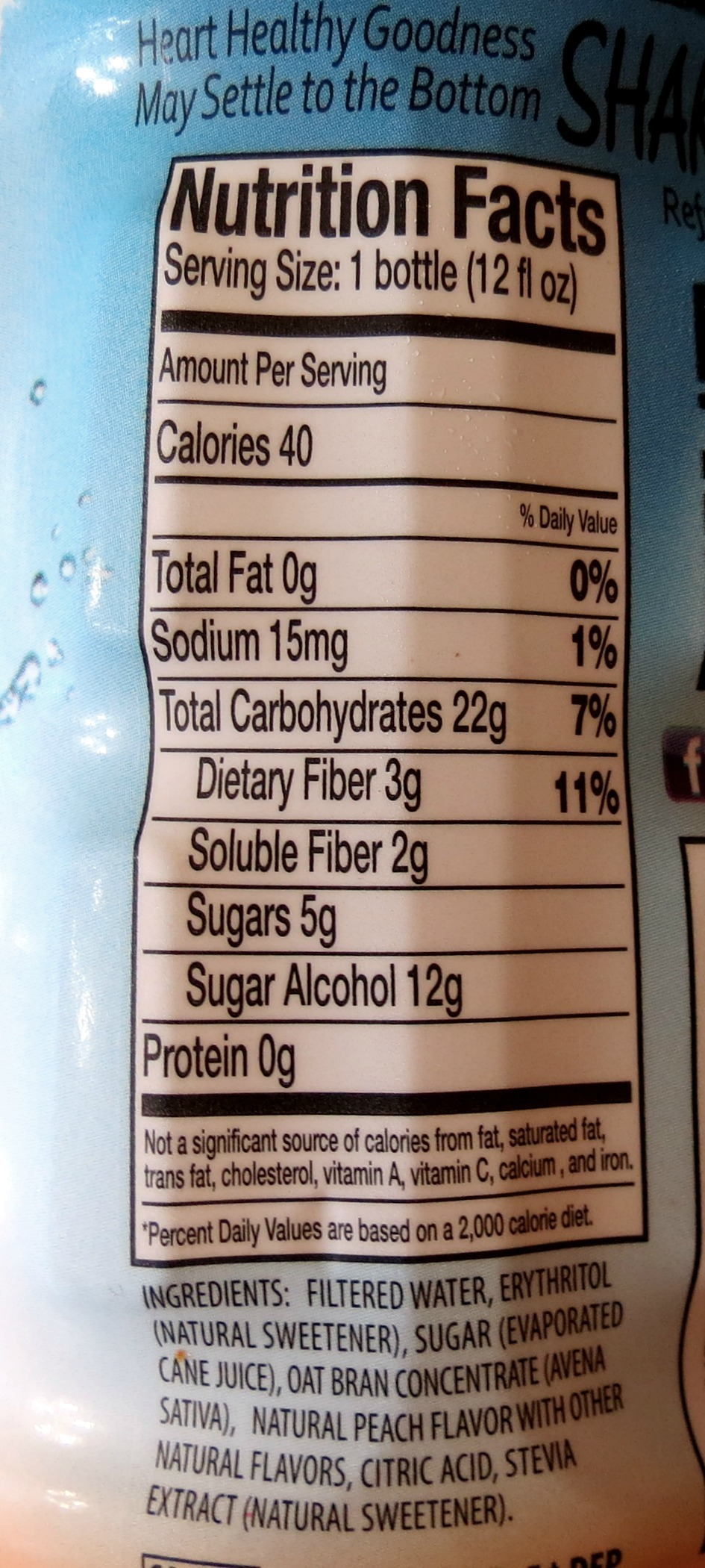 Sneaky Pete's Oat Beverages Nutritional Information