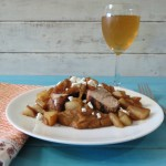 Pork Tenderloin with Sauteed Pears and Sweet Potatoes and Stella Artois Cidre