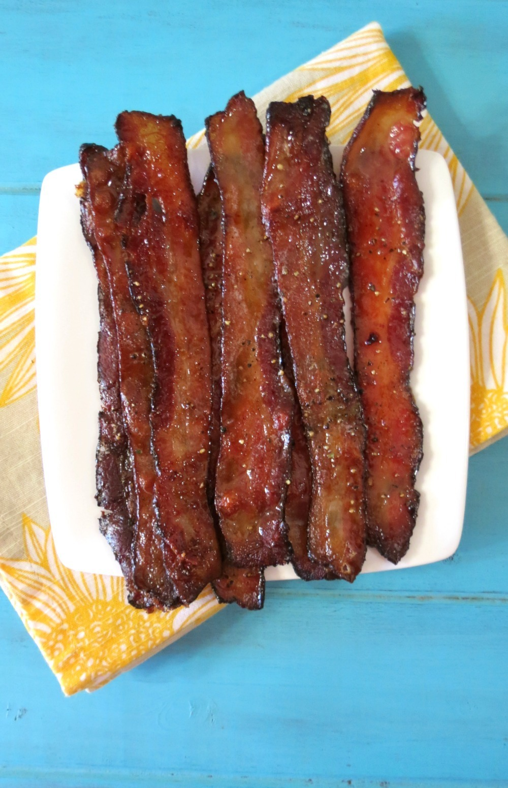 Baked Maple Glazed Bacon | Peanut Butter and Peppers