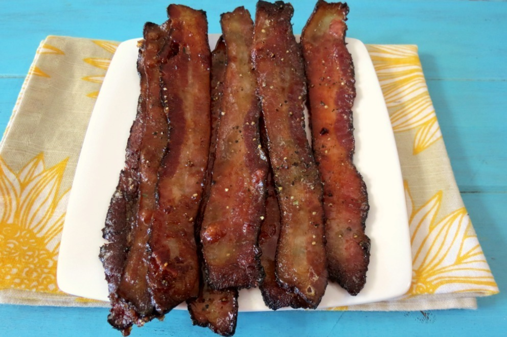 Baked Maple Glazed Bacon