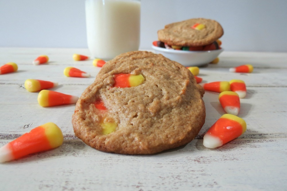 Peanut Butter Candy Corn Cookies