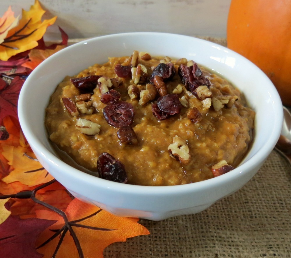 Pumpkin Oatmeal in Crockpot