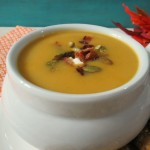 Creamy Butternut Squash Soup (Vegan) / Winner of GO Veggie!!