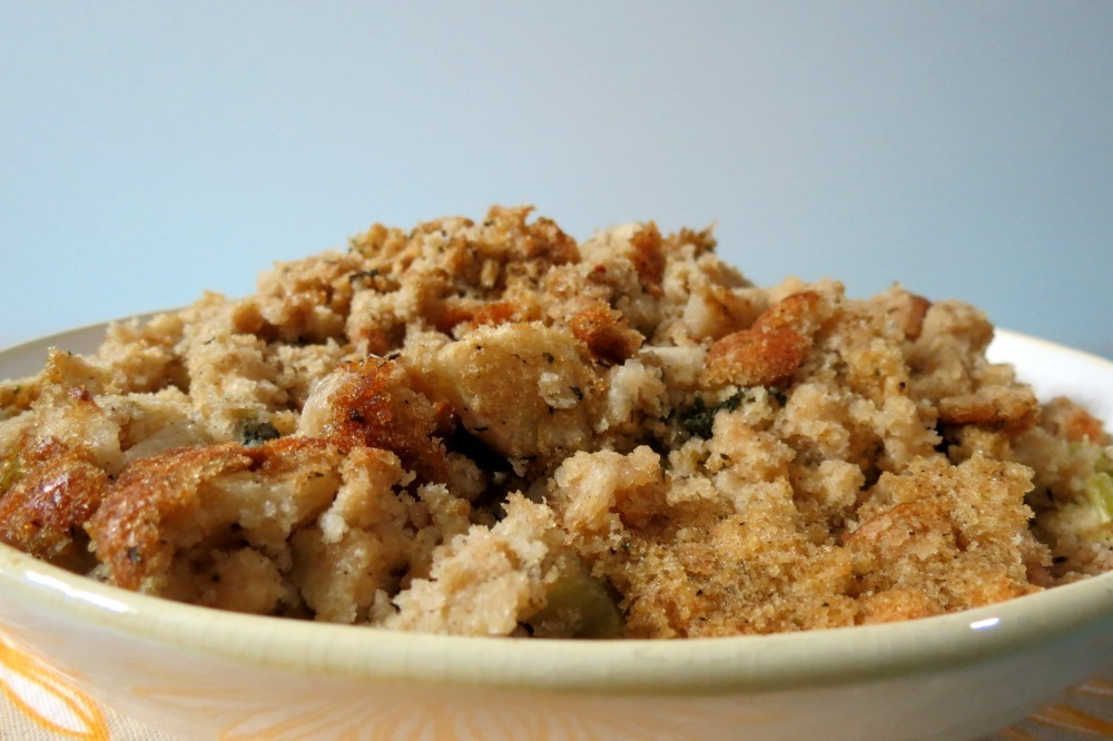 Cornbread Apple and Sage Stuffing | Peanut Butter and Peppers
