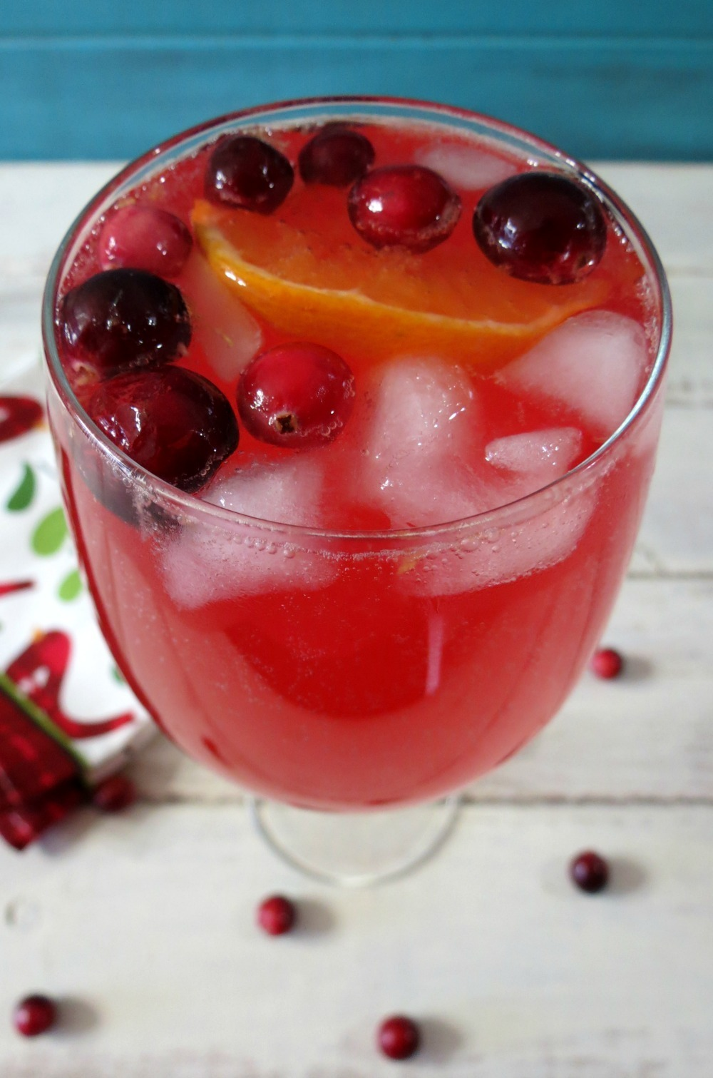 Cranberry Orange Spritzer | Peanut Butter and Peppers