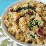 Delicata Squash and Cranberry Quinoa Salad
