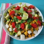 Roasted Squash and Mexican Black Bean Salad #SundaySupper