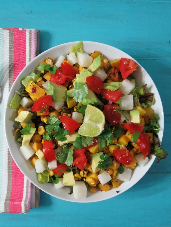 Roasted Squash and Mexican Black Bean Salad #SundaySupper Peanut
