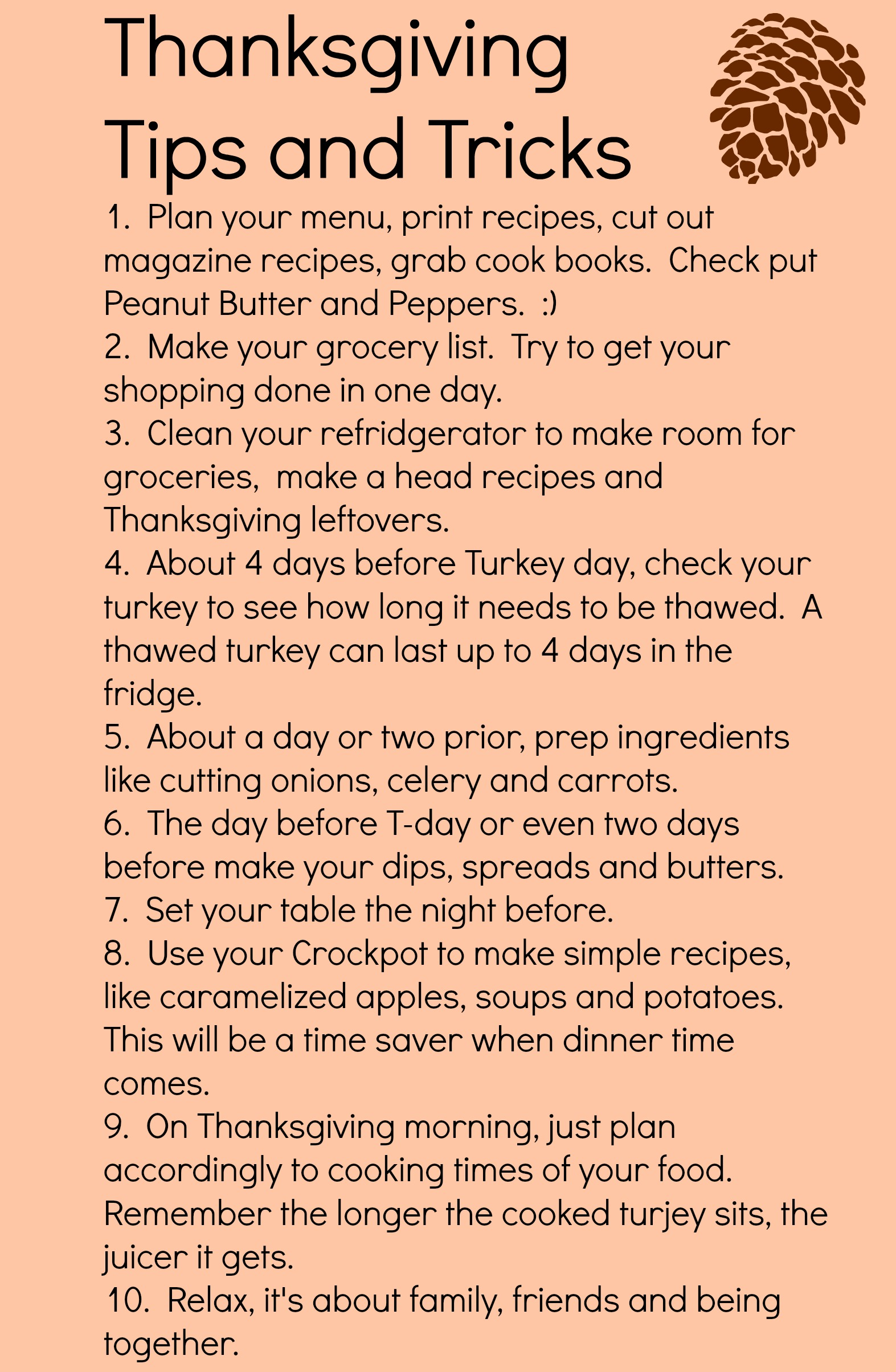 Thanksgiving Tips and Tricks