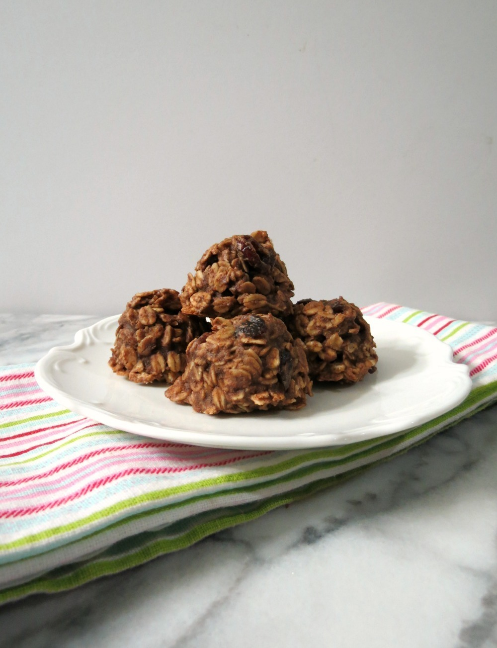 Chocolate Almond Cranberry Breakfast Cookies
