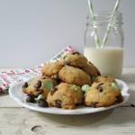 Lightened Up Mint Chocolate Chip Cookies #healthierholidays