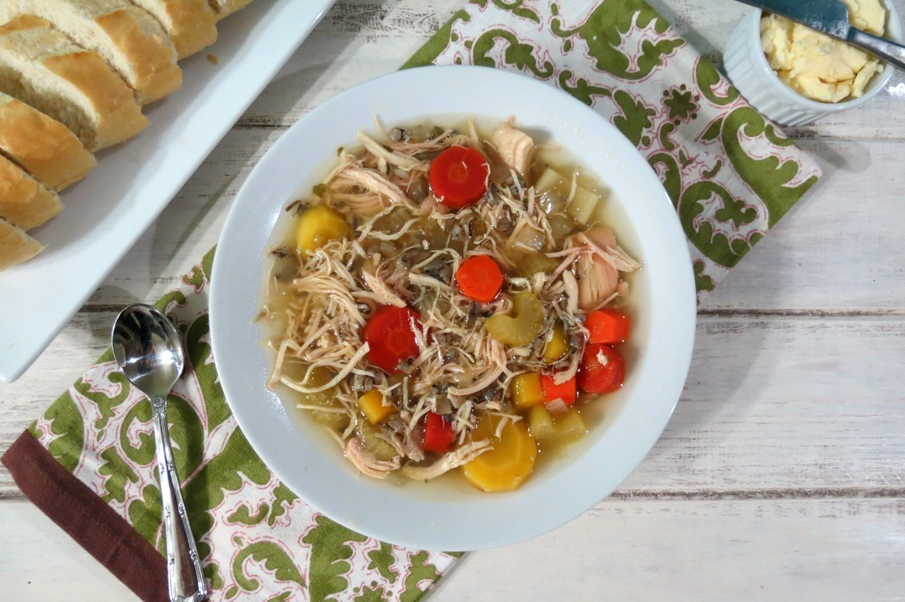 Chicken and Wild Rice Soup in Crockpot