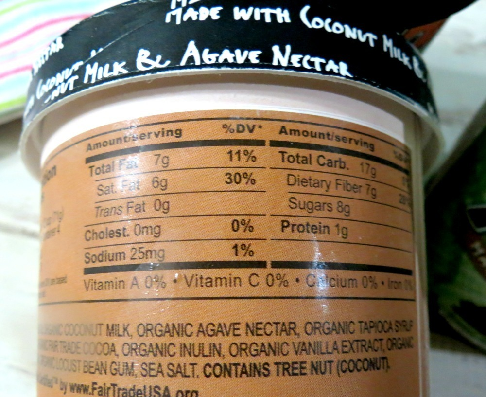 Nada Moo Nutritional Stats of Gotta Do Chocolate