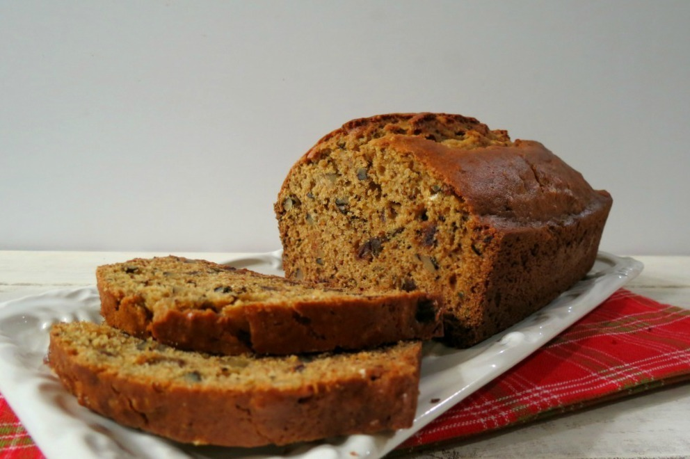 Date and Walnut Quick Bread