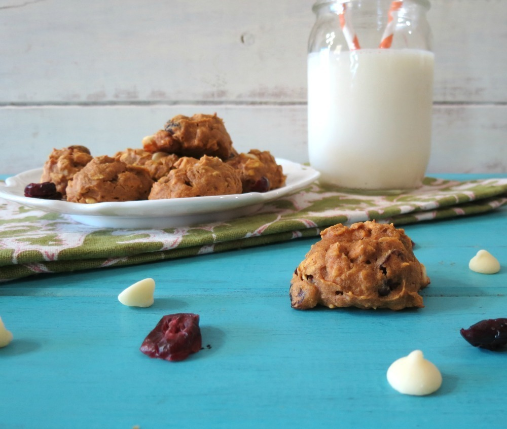 Cranberry White Chocolate Pumpkin Oatmeal Cookies | Peanut Butter ...