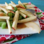 Crunchy Apple Cinnamon and Pear Salad #StayTRU