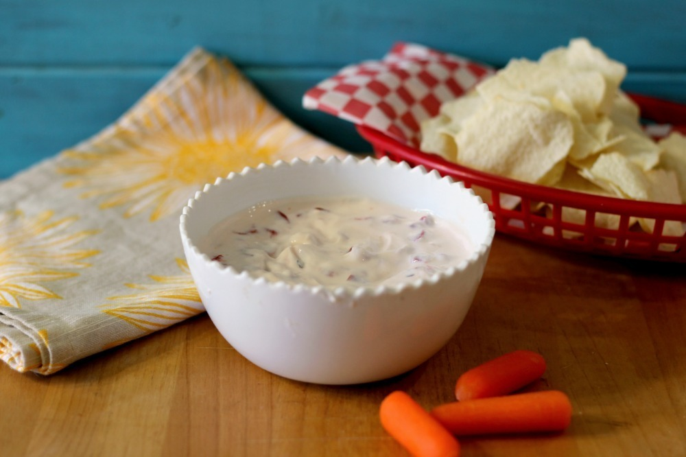 Roasted Red Pepper Yogurt Dip