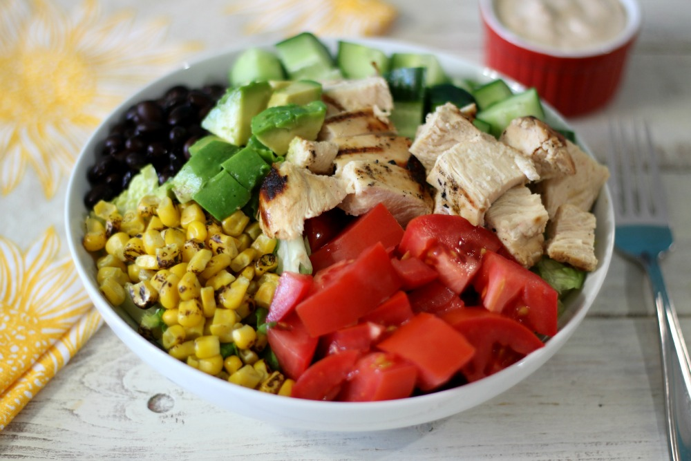 BBQ Chicken Salad w/ BBQ Ranch Dressing
