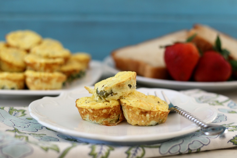 Mini Jalapeno and Cheese Egg Bites
