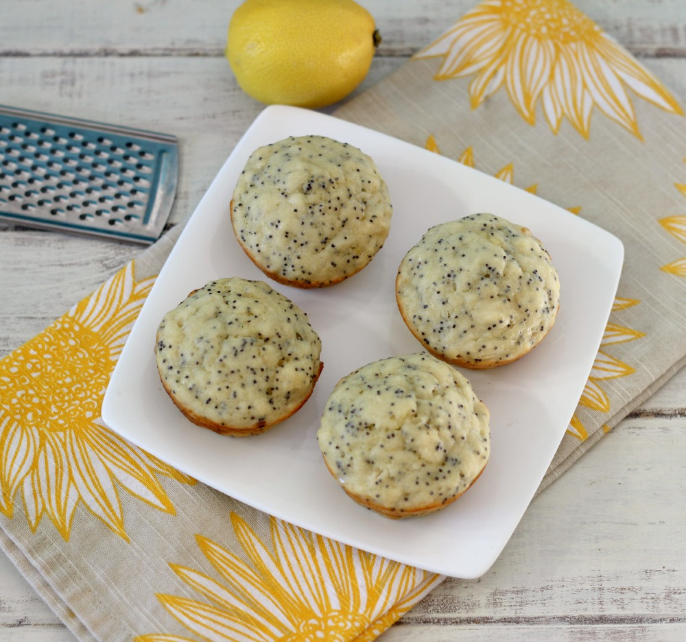 Lemon Poppy Seed Muffins | Peanut Butter and Peppers