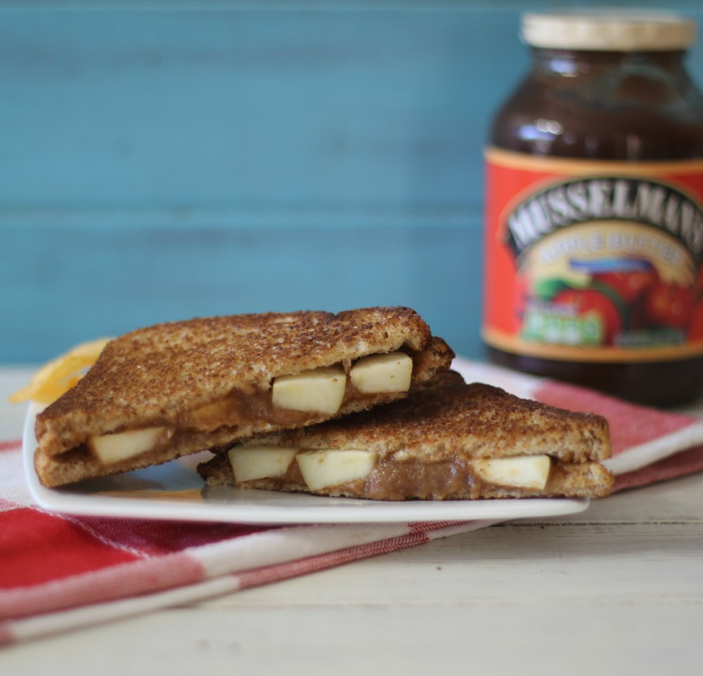 Peanut Butter and Apple Sandwich #AppleButterSpin