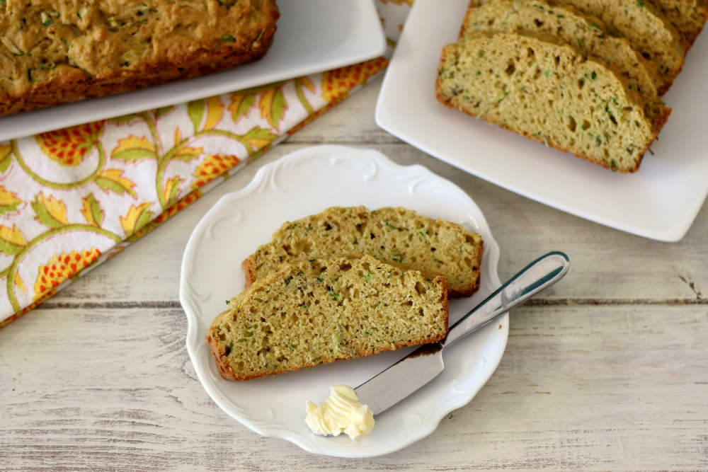 Savory Olive Oil Rosemary Zucchini Bread | Peanut Butter and Peppers