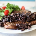 Pinot Noir Mushroom Reduction Sauce with T-Bone 008a