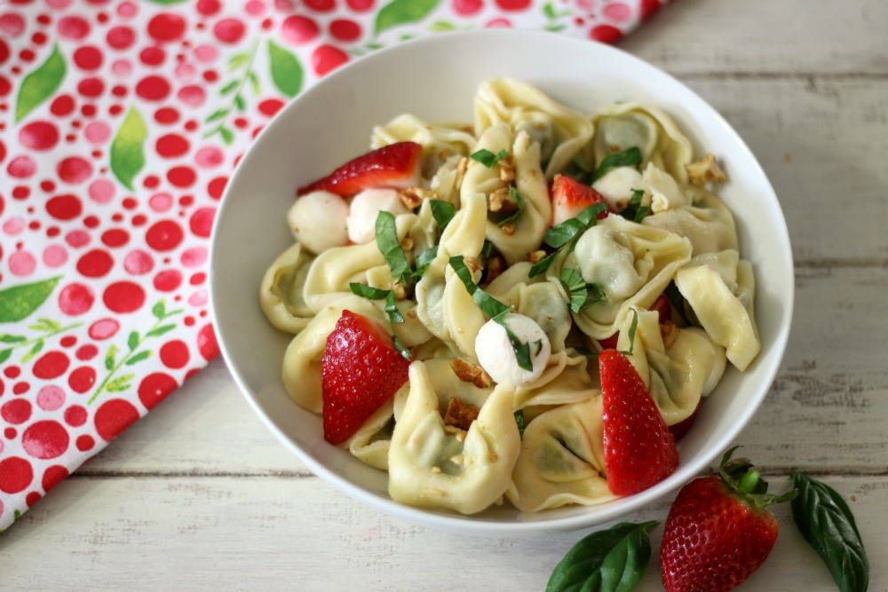 Strawberry Basil Pasta Salad