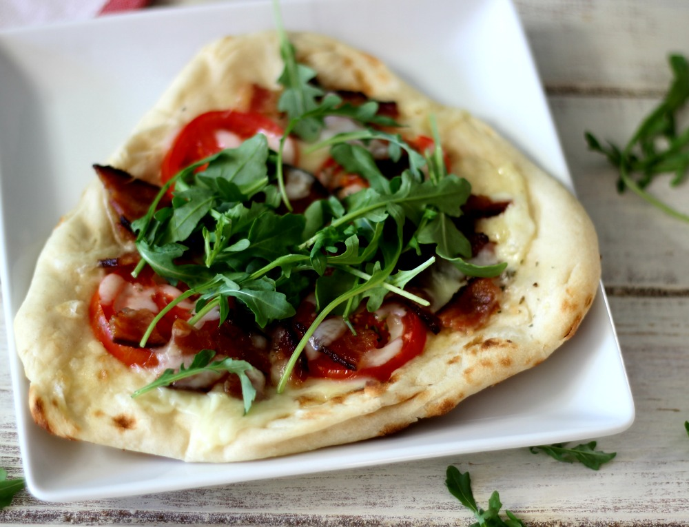 BLT Pizza on Naan Bread