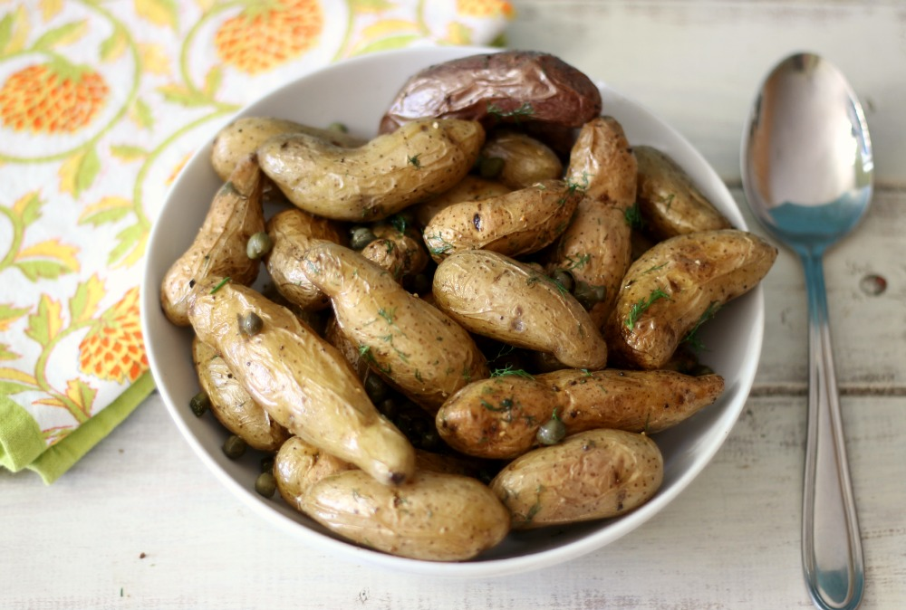 Roasted Fingerlings with Capers & Dill