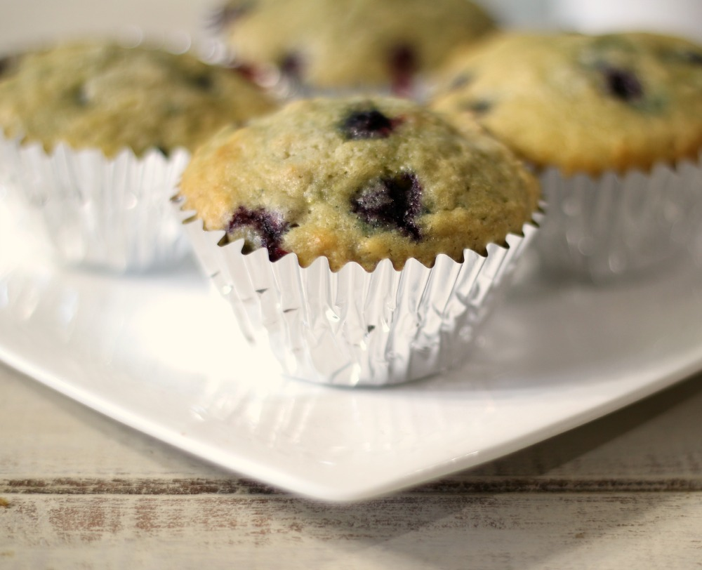 Traditional Blueberry Muffins