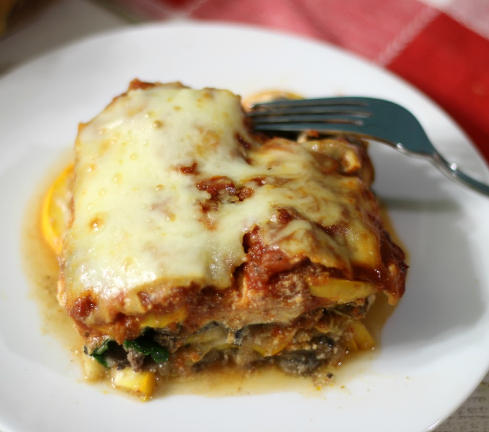 Zucchini Meat Lasagna #SundaySupper  #ChooseDreams