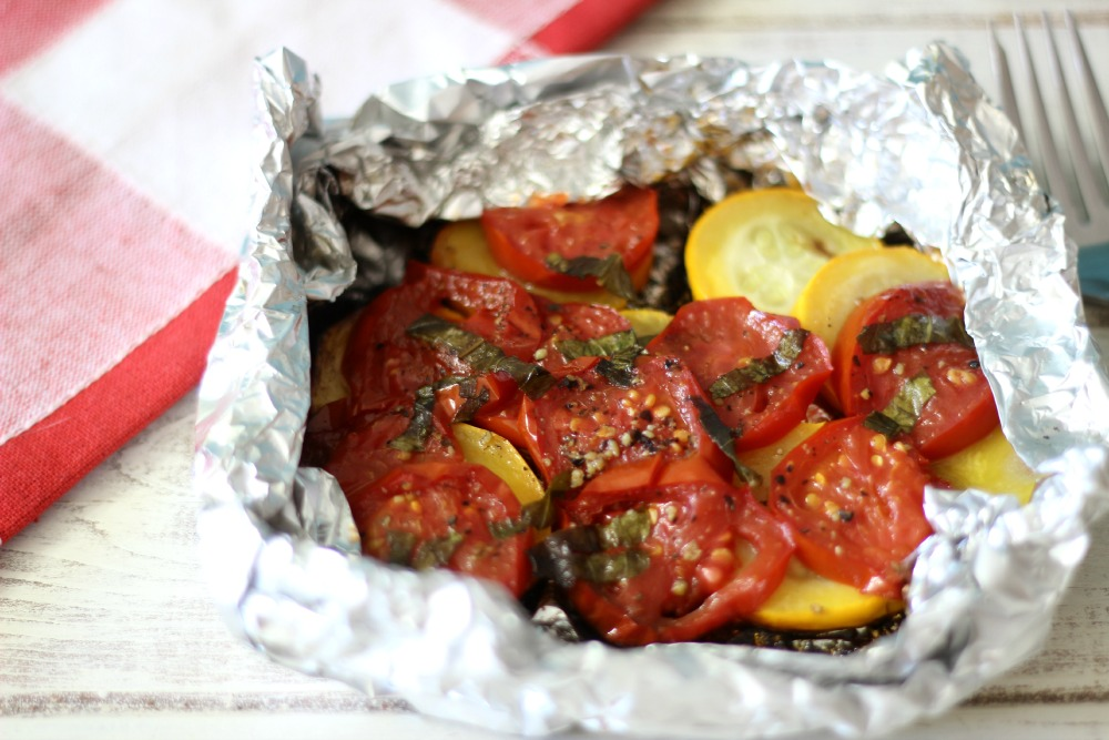 Zucchini and Tomato Packet