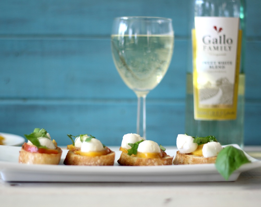 Grilled Peach Bruschetta