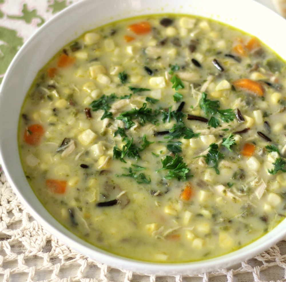 ... have for you the perfect fall recipe, Corn Chowder with Wild Rice
