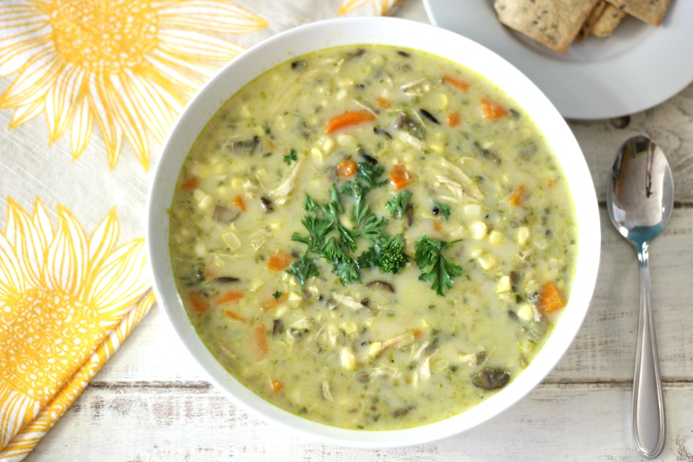 rich, thick, creamy, hearty soup made with fresh corn, vegetables ...