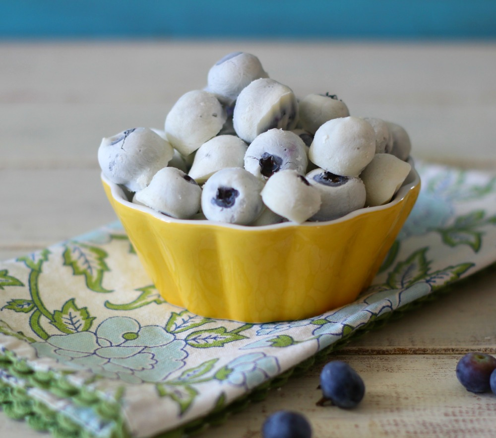 Frozen Yogurt Covered Blueberries #SundaySupper