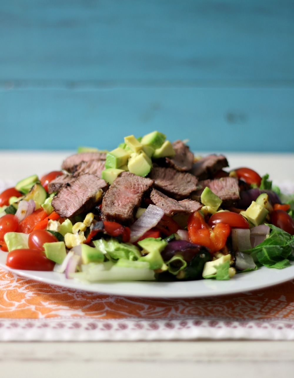 Grilled Vegetables and Tri-Tip Salad