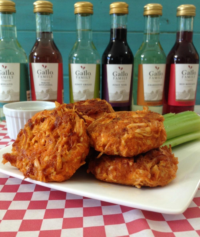 Cheesy Buffalo Chicken Cakes #SundaySupper