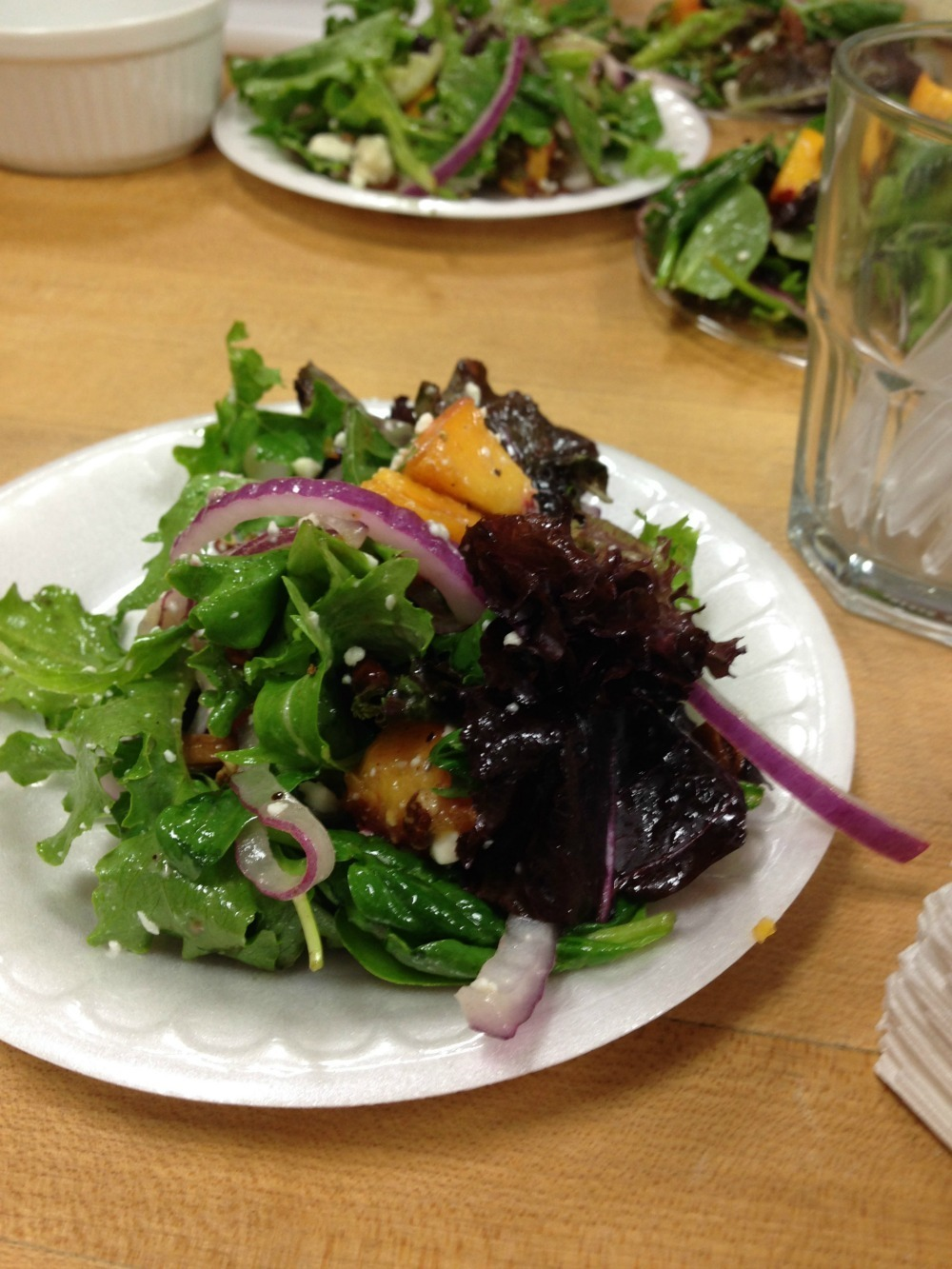 Peach Salad with Apricot Pepper Vinaigrette
