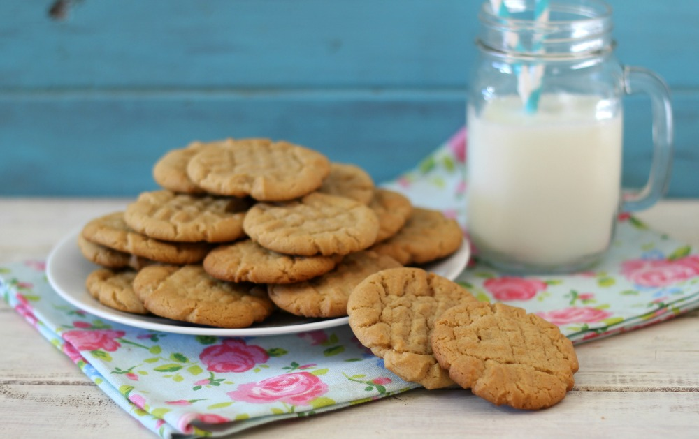 perfect peanut butter flavored cookie with crisp edges, soft center ...