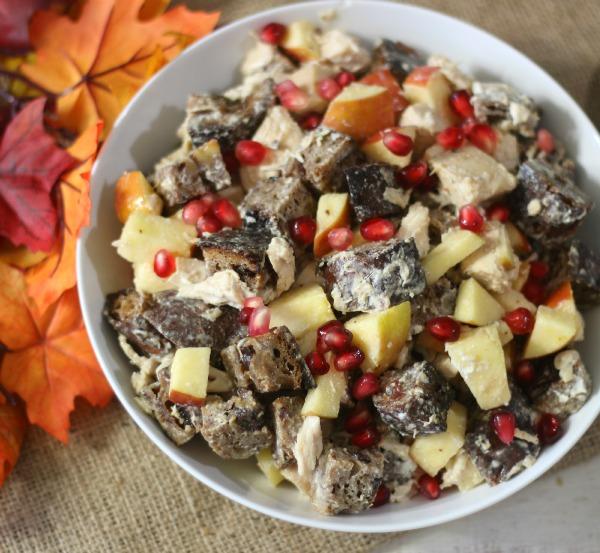 Chicken and Apple Panzanella Salad